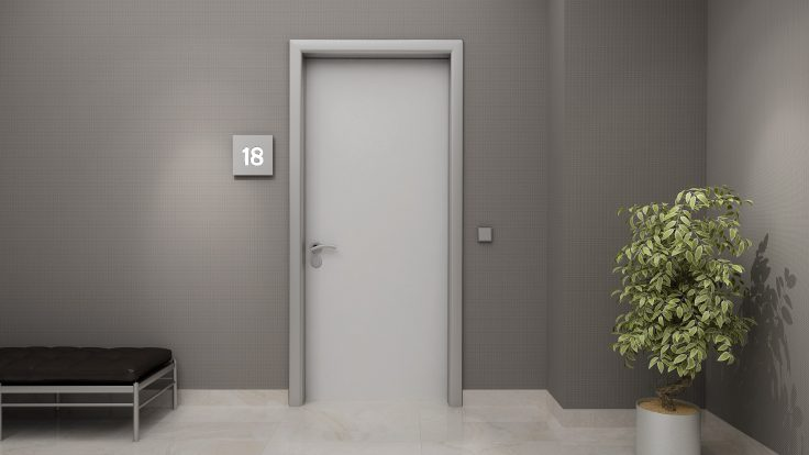 Alüminyum kasalı, laminat kapı 90*210