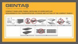 Kompakt Laminat Panellerin Taşıma,Depolama ve Kesim Şartları